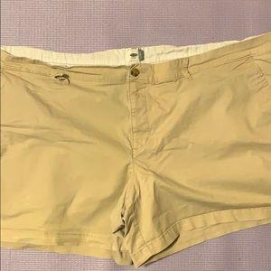 Plus 26 Old Navy Khaki Shorts